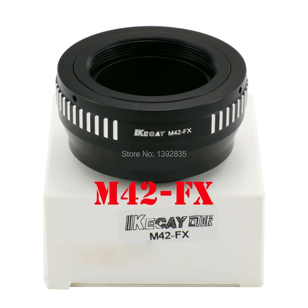 Kecay Haute-Précision d'objectif m42-fx adaptateur pour M42 vis monture pour Fujifilm X-Pro1 FX XPro1-Noir + ruban