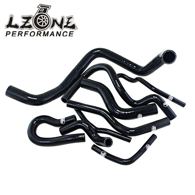 LZONE - D15/16 Silicone Radiator Coolant Hose,Silicone hose kit  With logo For Honda CIVIC SOHC D15 D16 EG EK 92-00 JR-LX1303DBK