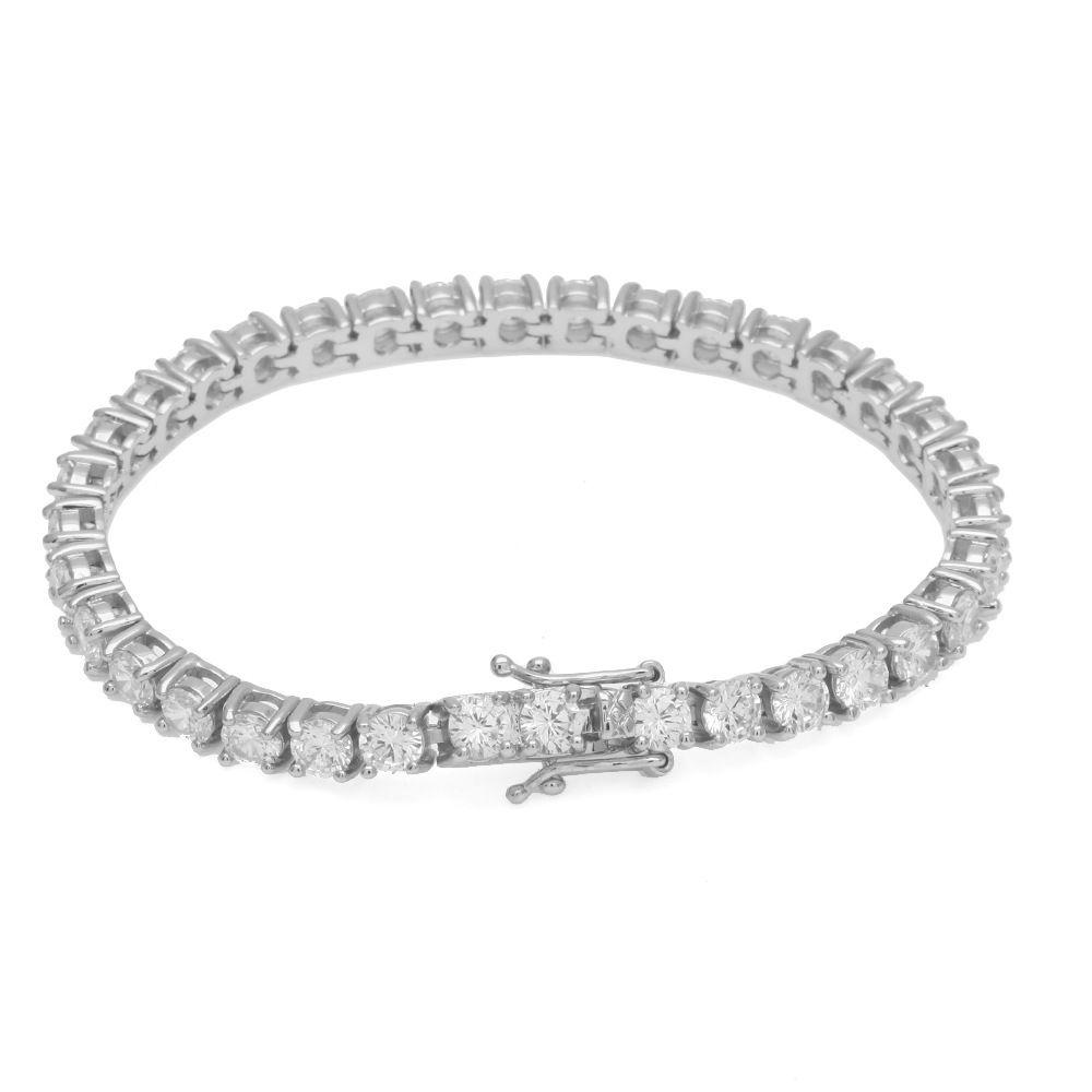 9/8/7 pouces Aaa glacé cubique Zircon chaîne de Tennis 1 rangée Bracelet or Rose argent Hiphop femmes/hommes bijoux Bracelet livraison directe