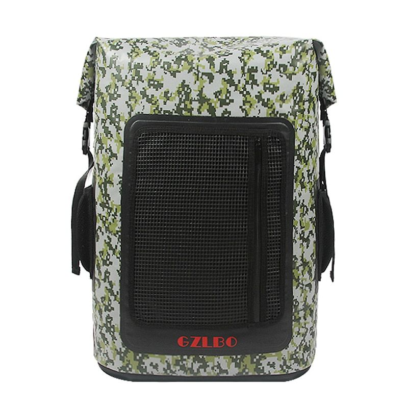 GZLBO 60Cans cooler bag large capacity PVC popular camouflage waterproof food beer cooler bag backpack with mesh zipper pocket