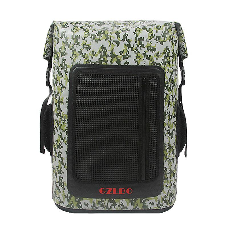 Gzlbo 60 latas gran capacidad PVC popular camuflaje impermeable cerveza comida enfriador mochila bolsa con bolsillo de malla con cremallera