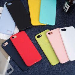 Lujo suave mate casos del Color para 7 8 X caso a prueba de choques TPU silicona caso de la contraportada para el iPhone 5 5S SE 6 6 s caso