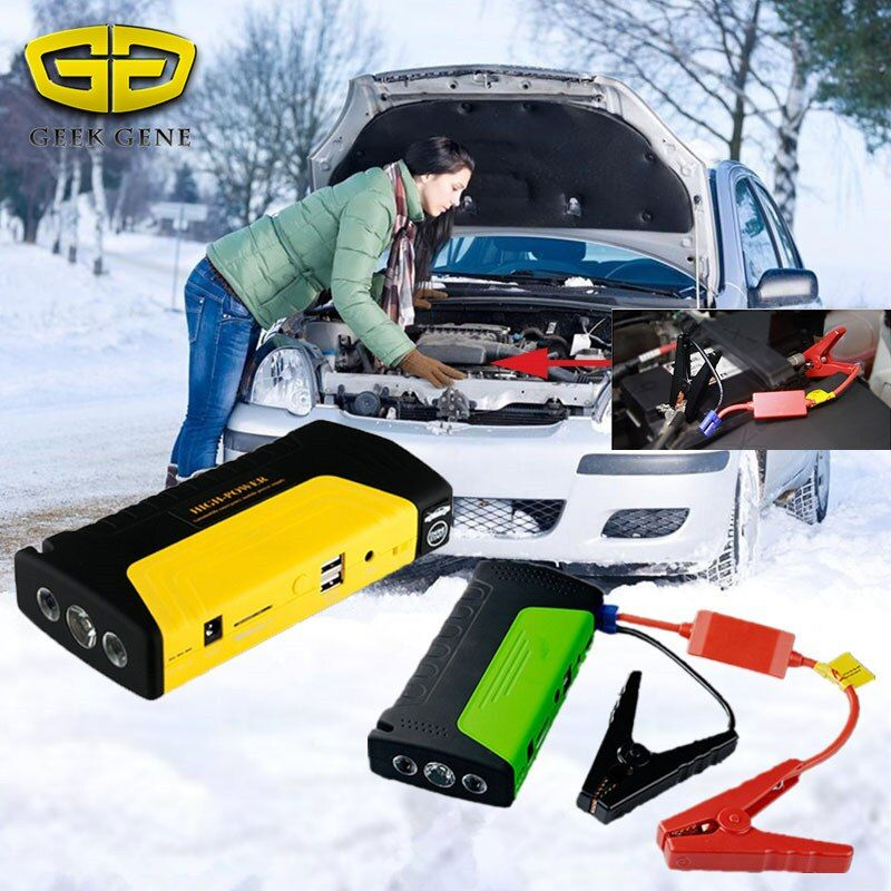 2017 Starting Device 12V Car Jump Starter Portable Power Bank Car Charger for Car Battery Booster Buster Petrol Diesel