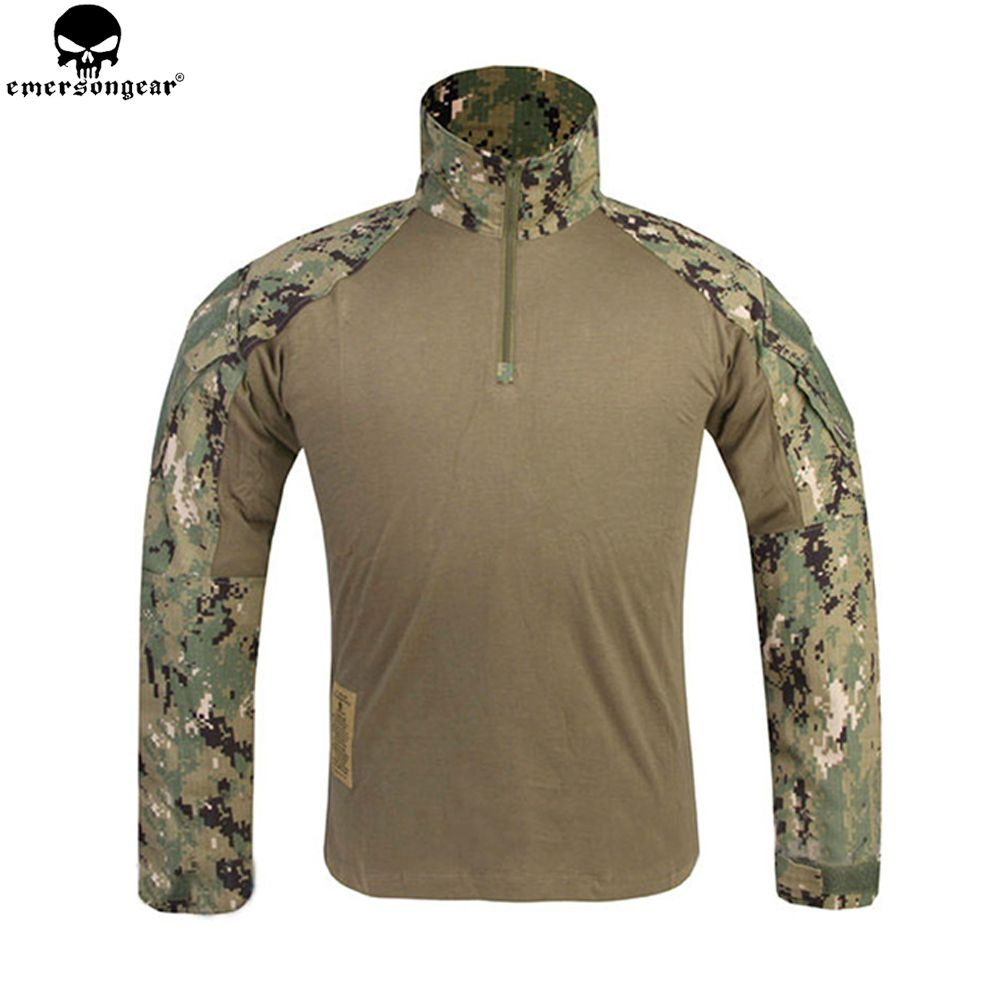 EMERSONGEAR G3 Combat Shirt Airsoft Paintball Hunting Shirt Army BDU Military Tactical T-shirt AOR2 EM8596