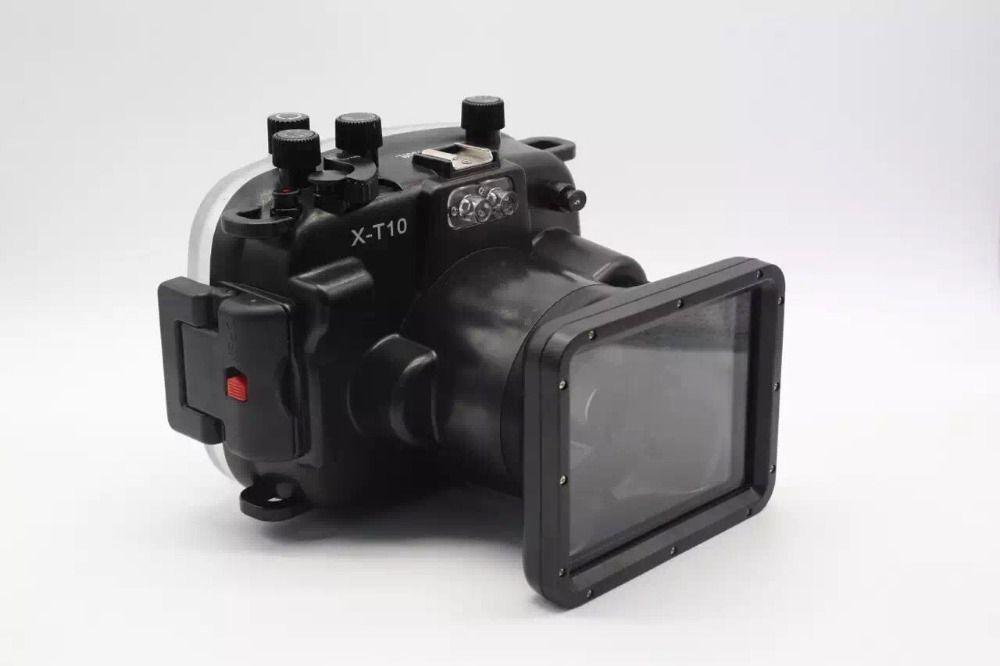 Waterproof Underwater Diving Camera Housing Case for Fujifilm Fuji X-T10 XT10 16-50mm lens