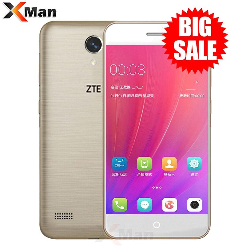Original ZTE <font><b>Blade</b></font> A520 Mobile Phone 5.0 inch Quad Core 2G RAM 16G ROM Dual SIM Cards Front & Back Camera Android 6.0