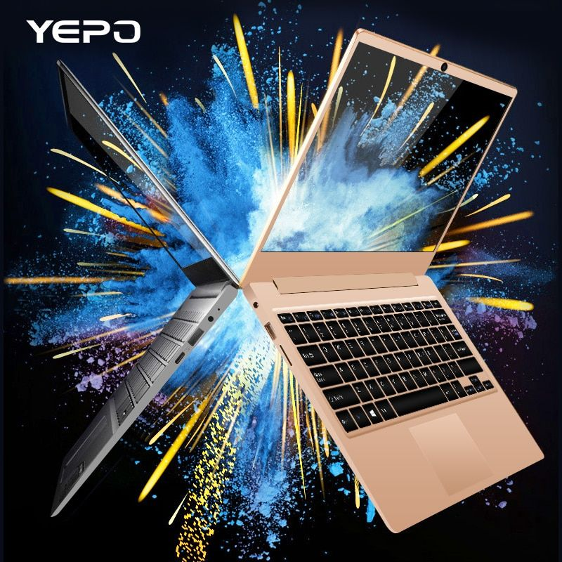 YEPO laptop 13,3 zoll Apollo Version Intel Celeron N3450 laptops RAM 6 GB DDR3 128 GB eMMC notebook Ultrabook mit M.2 SATA SSD
