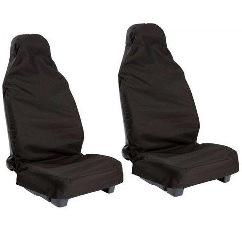 2 шт. черный Универсальный Водонепроницаемый нейлон спереди автомобилей Ван Чехлы для сидений мотоциклов протекторы