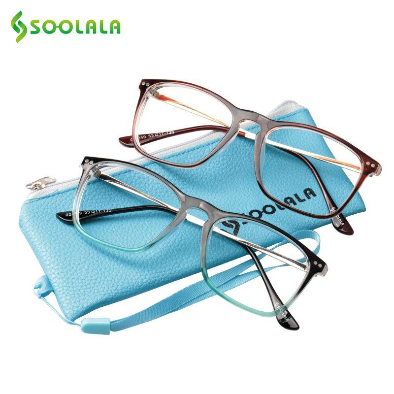 SOOLALA Oversized Womens Mens Full Rimmed Reading Glasses Large Horn Clear Lens Eyeglass Frame Reading Glass +0.5 1.5 2.5 to 4.0