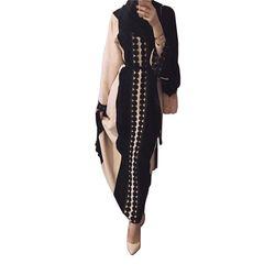Plus la taille 2018 Adulte dentelle coton liene abaya ruches couture Musulmane Turque Abaya Musulman Robes Prière Culte Wj667