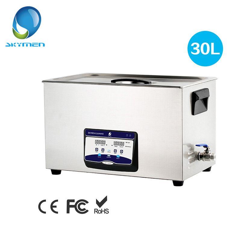 SKYMEN Digital Ultraschall Reiniger Bad 30L 600 watt 40 khz Heizung für Labor Medizinische Hardware teile platine Golf Clubs