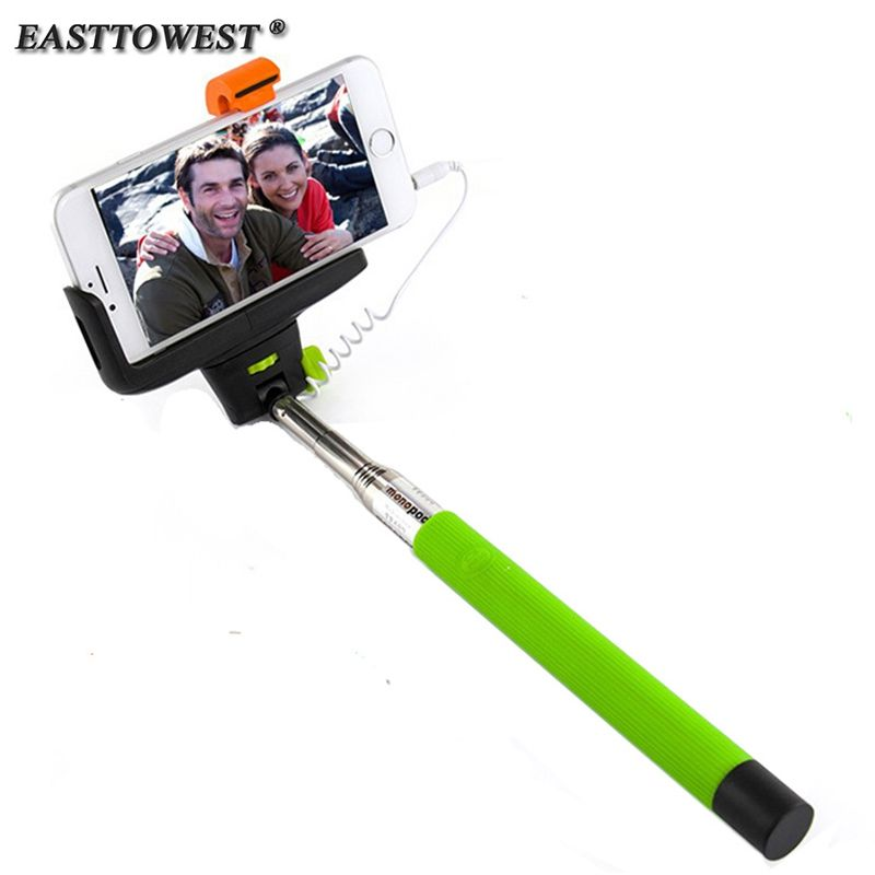 Z07-7 Audio Cable Wired Selfie Stick Extendable Monopod Self Stick for iPhone 7 6 plus 5 5s 4s IOS Samsung Android