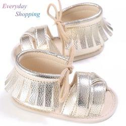 Anak-anak Bayi Gadis Balita Sepatu Pertama Walkers Lembut Musim Panas PU Bernapas Hollow Bayi Sepatu 0-18 Bulan Anti- slip Bayi Sepatu