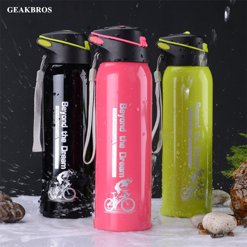 500ml Cycling Water Bottle Outdoor Sport Portable Bicycle Kettle Warm-keeping Water Bottle Riding Aluminum Alloy Mountain Cup