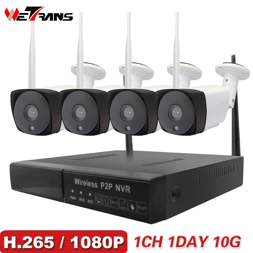 Wetrans CCTV System Wireless Camera Home Security 1080P HD H.265 Outdoor Waterproof Wifi IP Cam NVR P2P Video Surveillance Kit