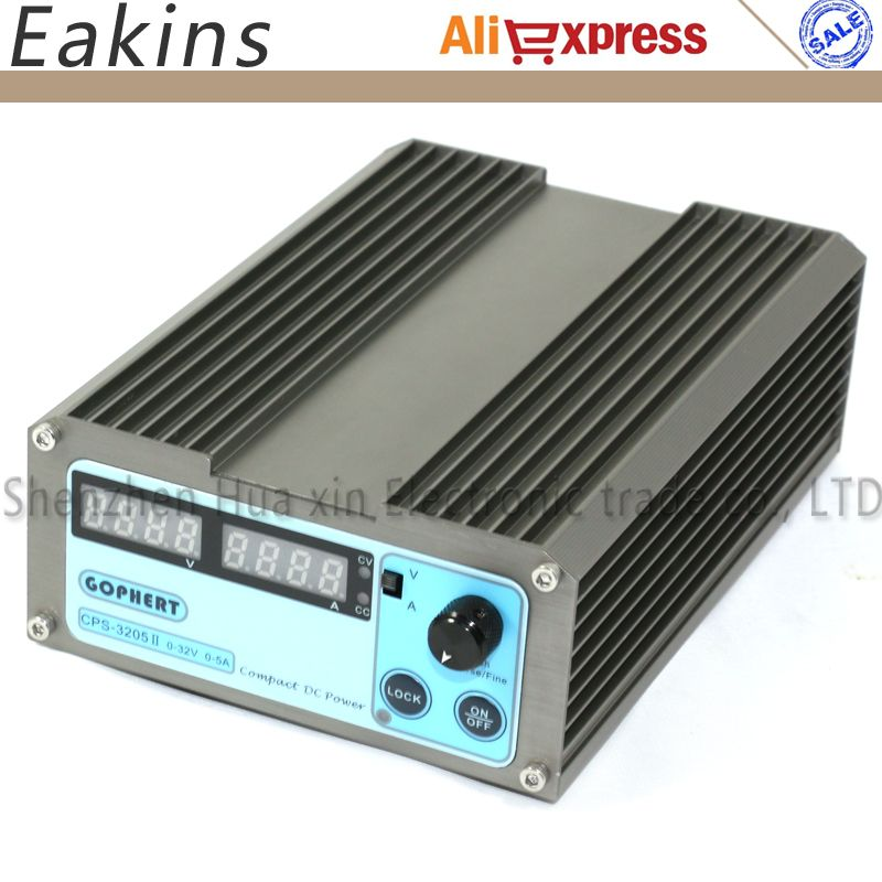 Compact Digital Adjustable DC Power Supply 32V/5A 110V-230V 0.01V/0.001A EU/AU/US