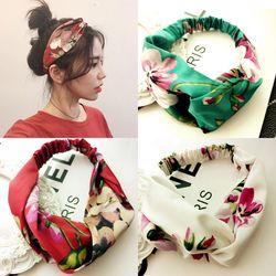 Femmes Filles D'été Bohème Cheveux Bandes Imprimer Bandeaux Rétro Croix Turban Bandage Bandanas Bandeaux Cheveux Accessoires Headwrap