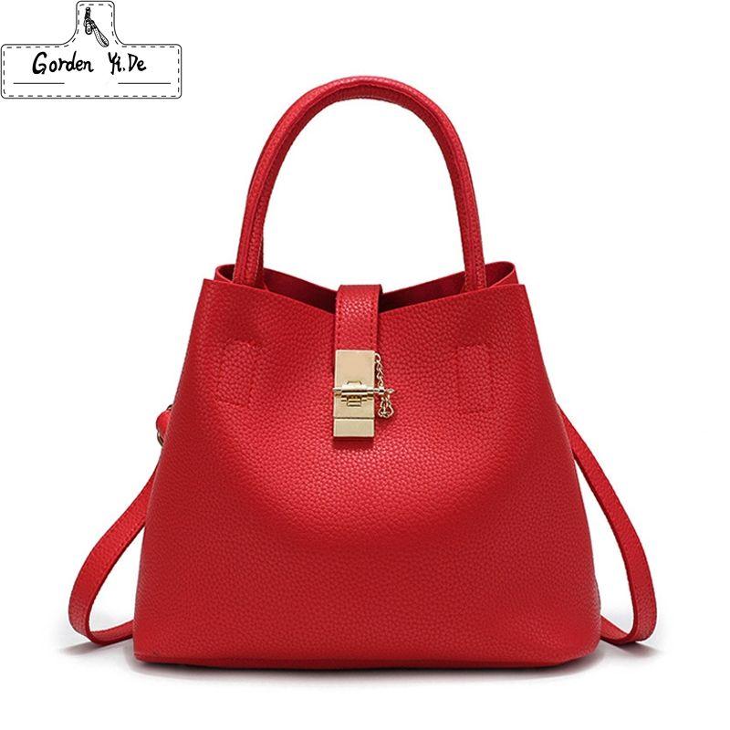2019 Vintage Women's Handbags Famous Fashion Brand Candy Shoulder Bags Ladies Totes Simple Trapeze Women Messenger Bag