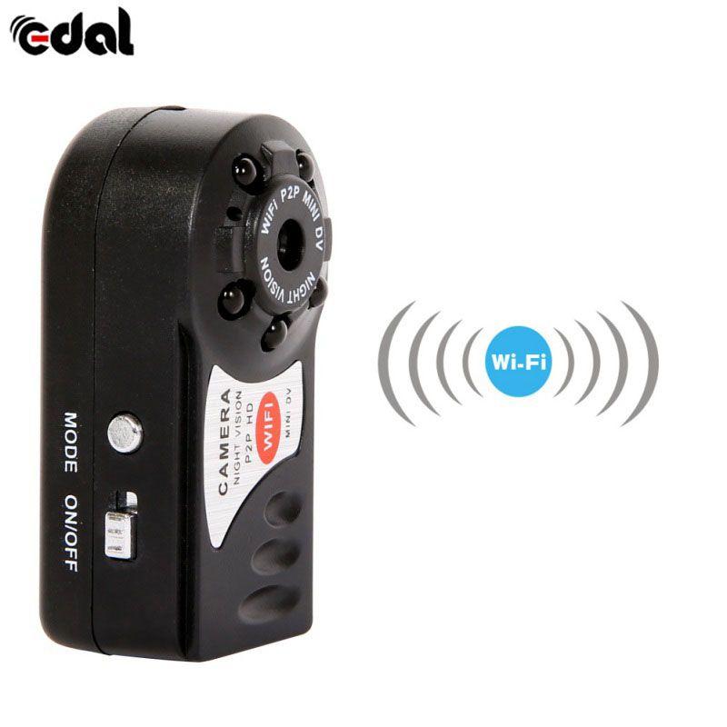 EDAL Wifi Mini Q7 Camera 480P DV DVR Wireless Cam Brand New Mini Video Camcorder Recorder Infrared Night Vision