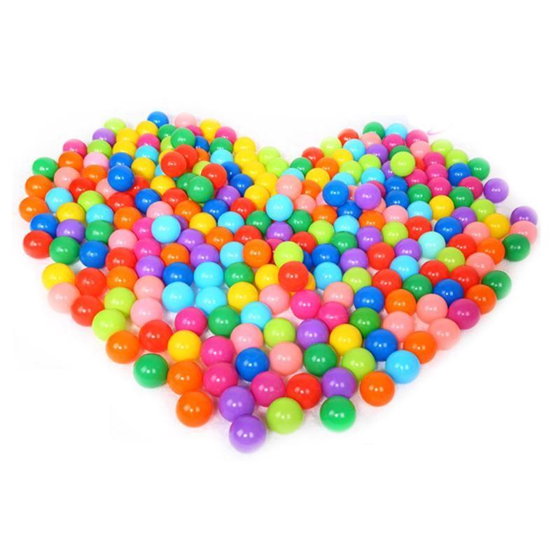 100 unids colorido plástico bola divertido Juguetes océano suave bolas para la piscina nadar pozo de juguete al aire libre bola de la tensión globos