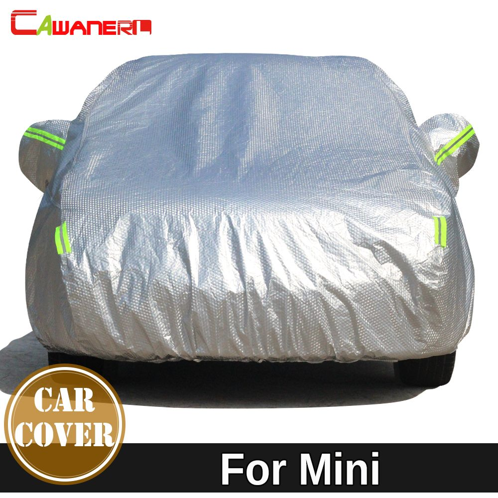 Cawanerl Thicken Cotton Car Cover Anti-UV Sun Snow Hail Rain Protect Cover For Mini Clubman Countryman One Cooper Coupe Roadster