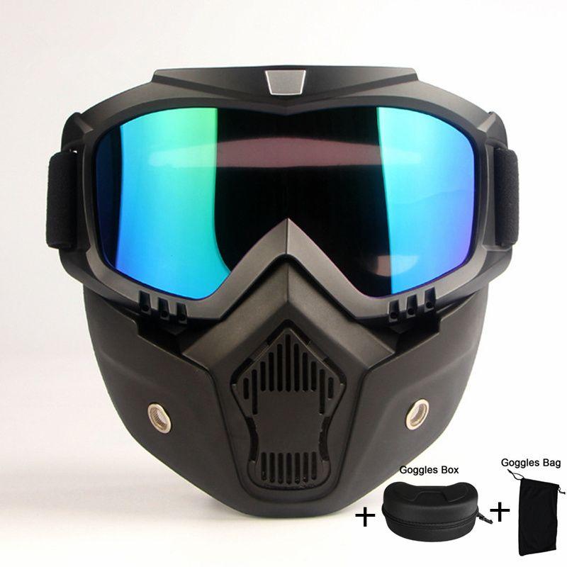 2018 Лидер продаж модульная маска Съемный очки рот фильтр лыжный Стекло Для мужчин Для женщин ветрозащитный снег Очки сноуборд Очки для лыжно...
