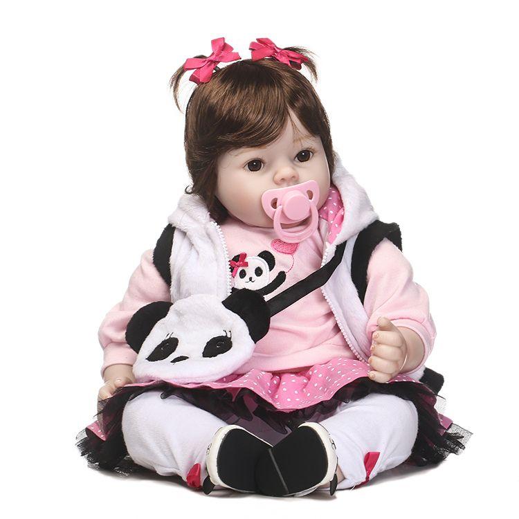 NPK New 50cm Silicone Reborn Super Baby Lifelike Toddler Baby Bonecas Kid Doll Bebe Reborn Brinquedos Reborn Toys For Kids Gifts
