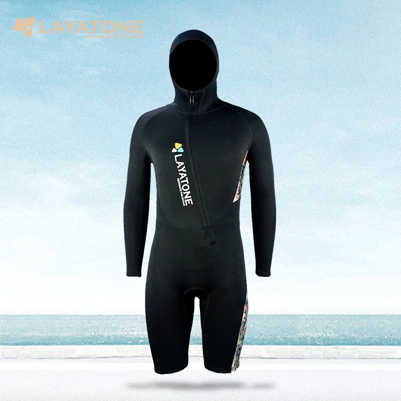 Neoprene Wetsuit Snorkeling Surf Mergulho One-piece Full Body Jumpsuits Diving Sport Surfing Wetsuits With Hood For Swimming Men
