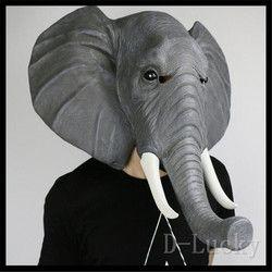 Baru Halloween Alat Peraga Dewasa Topeng Gajah Hewan Penuh Lateks Masquerade Pesta Ulang Tahun Karet Silikon Masker Fancy Dress