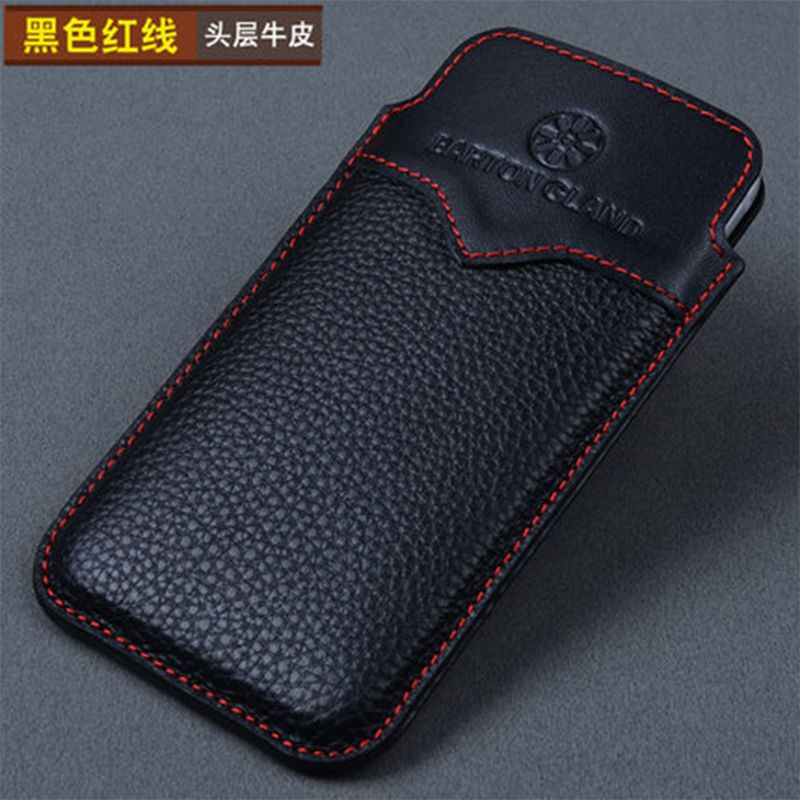 2017 Original Designer Phone Pouch for iPhone X 100% Genuine Leather Case Bag Cover for Apple iPhone 7 8 8plus Sleeve