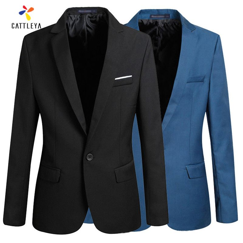 Mens Designer Bazers Jacket Suit Hombre Homens Blazer Slim Fit Business Dress S-4XL Black Blue Wine Red Party Masculino Suits