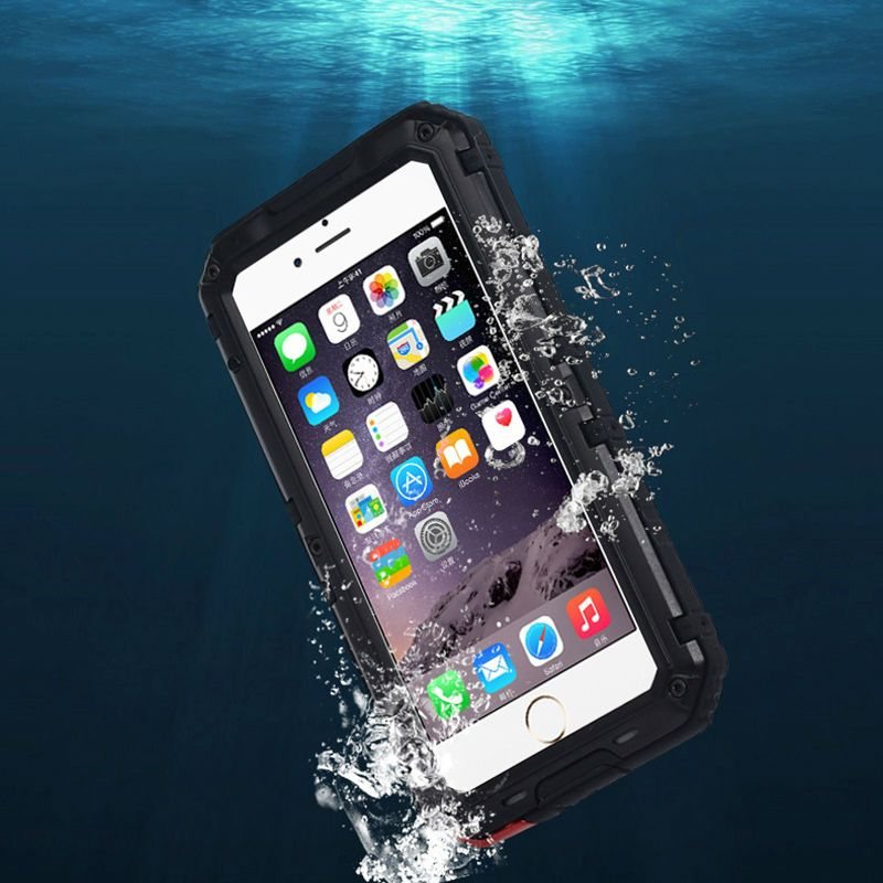 REFUNNEY for Heavy Duty iPhone 5 Metal Armor Case IP68 Waterproof Shockproof Coque iPhone se Hybrid Cover for iPhone 5s Capinha