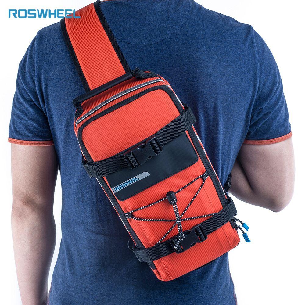 Roswheel Fahrrad Tasche Männer Frauen Bike Rear Seat Saddle Tasche/Crossbody-tasche Für Radfahren Zubehör Outdoor Sport Reiten Rucksack