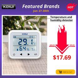 Kerui TD32 LED Tampilan Adjustable Suhu dan Kelembaban Alarm Sensor Detector Alarm Melindungi Pribadi dan Properti