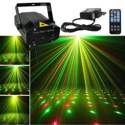 Mini Black Shell Portátil Remoto IR Verde Vermelho Luzes Projetor Laser DJ KTV Início Xmas Party LED Iluminação Cénica Dsico i100B