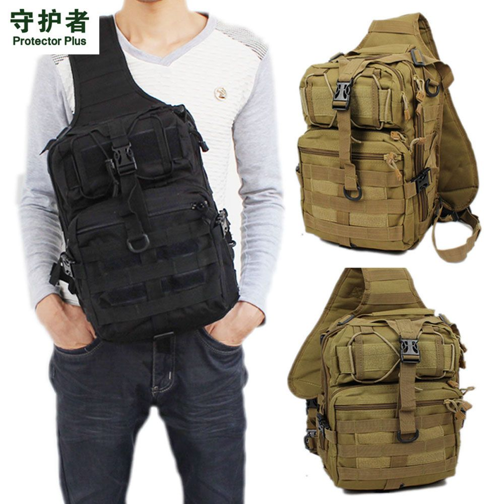 Men 600D Nylon Military Travel Riding Cross Body Messenger Shoulder Back pack Sling Chest Waterproof Bag