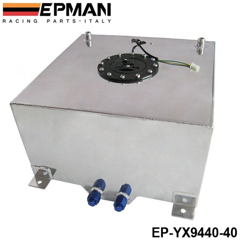 40L Aluminium FUEL CELL TANK polished FUEL LEVEL SENDER AN-10 outlets EP-YX9440-40