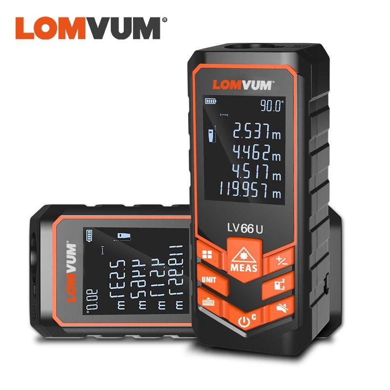LOMVUM LV 66U télémètre Laser à main télémètre Laser numérique ruban de niveau électrique mesureur de Distance Laser Misuratore