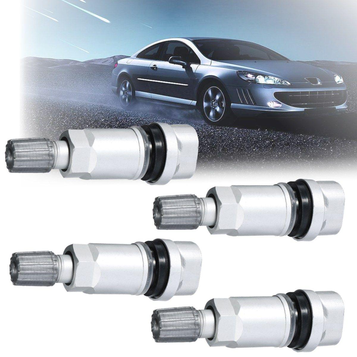 4Pcs TPMS Tyre Air Pressure Sensor 5WK96841 2045431 for Peugeot 407 607 807 /Citroen C4 C5 C6 Monitor System