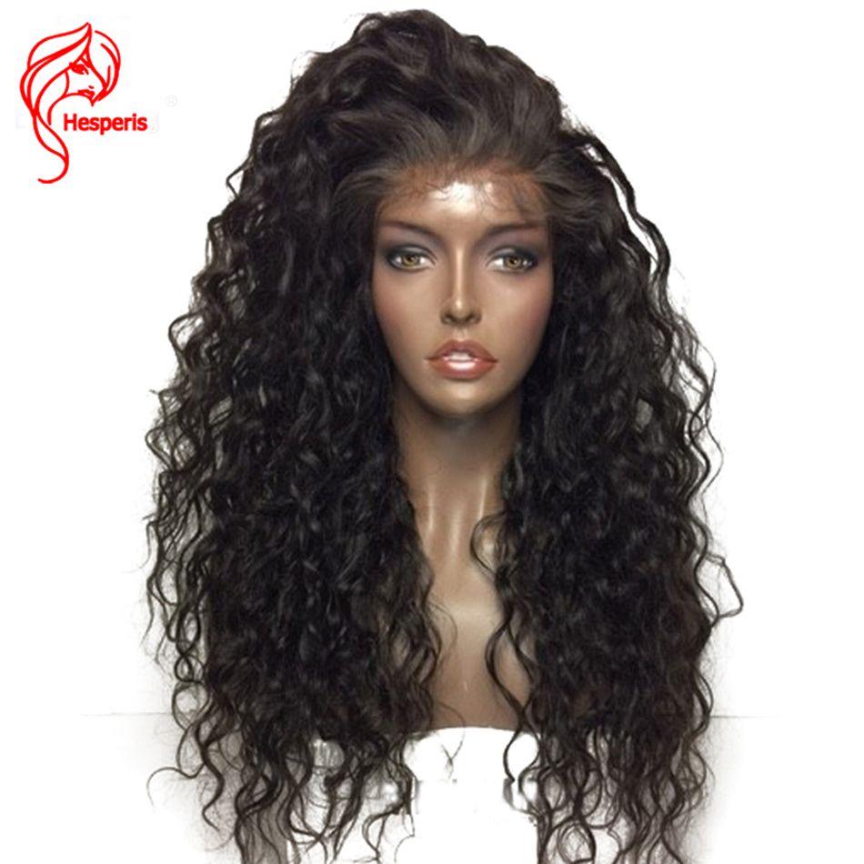 Hesperis 13*6 pouces Avant de Lacet Perruques de Cheveux Humains Pré Pincées Cheveux de bébé 150 Densité Brésilien Cheveux Bouclés Dentelle Perruques Pour femme