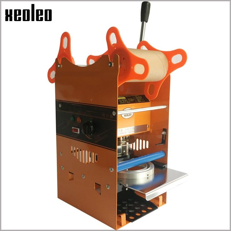 Xeoleo Manual Cup sealing machine for 7/7.5/9.0cm cup Bubble tea machine 220V Cup sealer for Coffee/Bubble tea Sealing machine