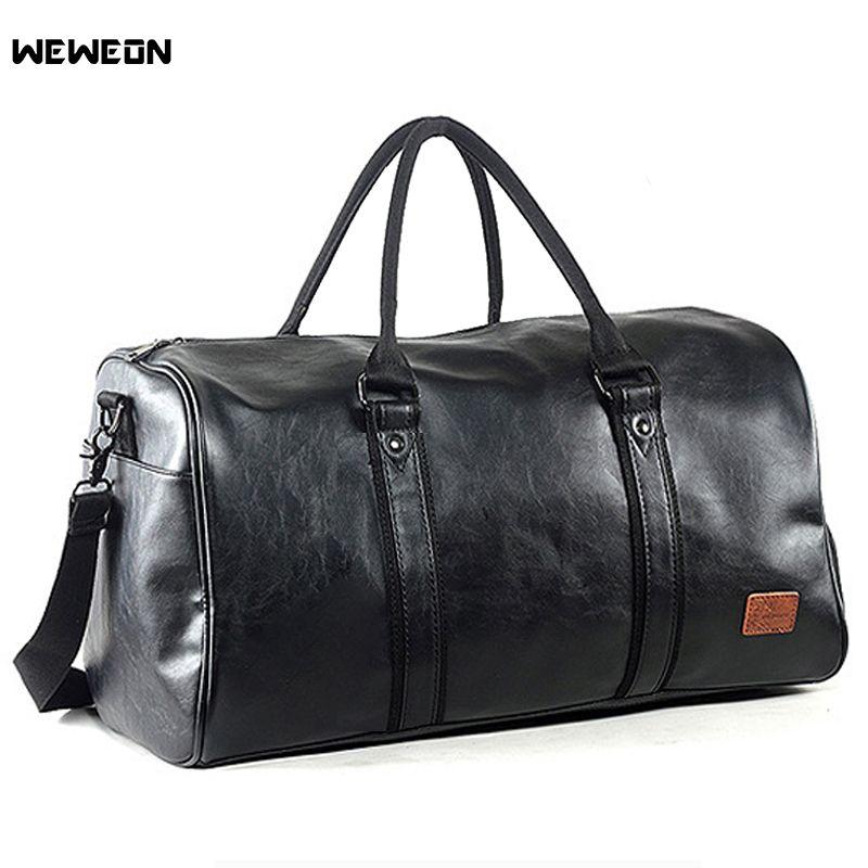 Männer Leder Sport Training Bag Durable Gym Taschen für Männer Fitness Militärische Ausbildung Handtasche Leder Reise Gepäck Tote