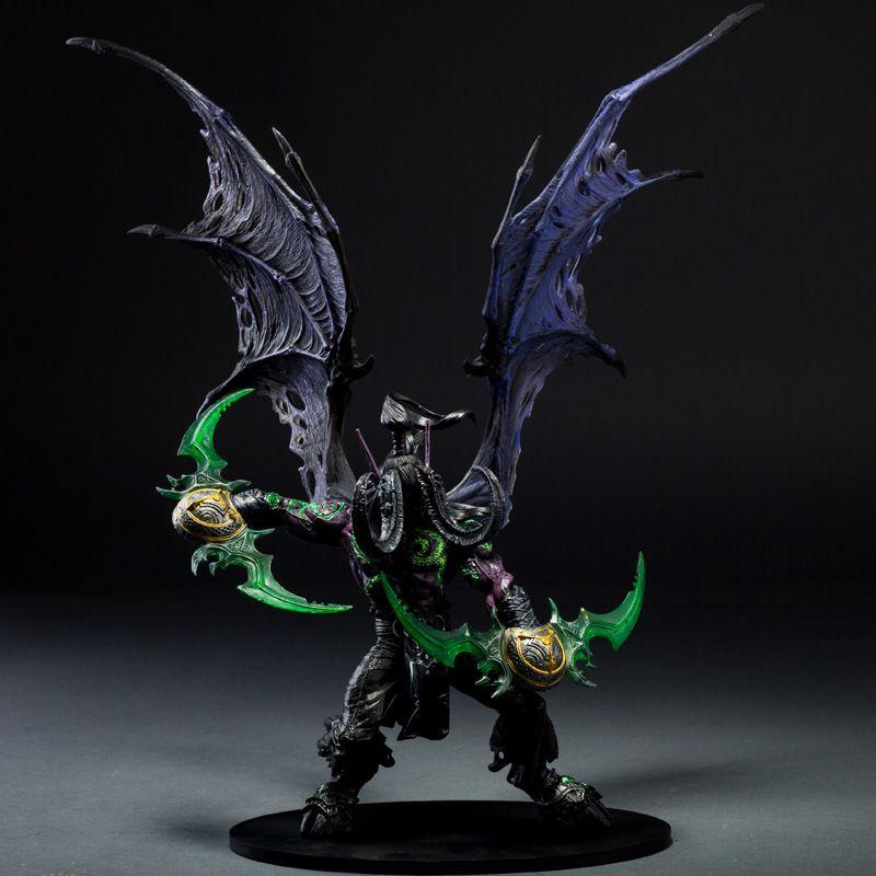 Game Wow Demon Hunter illidan Stormrage PVC Action Figure Toys