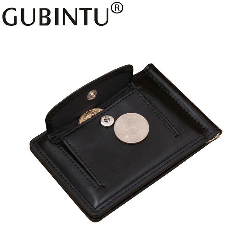 Top-qualität Einfachen Stil Geldscheinklammer Geldbörse mit Münzfach leder Clamp für Geld Crad Halter Leder Geldbörse für Männer geschenk