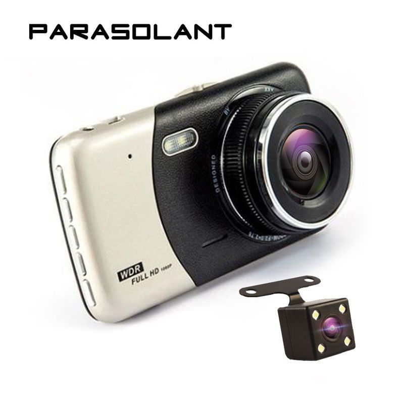 PARASOLANT 4,0 Zoll IPS-Screen-Auto DVR Kamera Dual-aufnahme Dash Kamera Full HD 1080 P Video 170 Grad T810 Dash Cam
