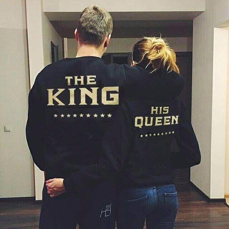 Le Roi et Sa Reine Amour Correspondant Hommes Femmes Shirts Couple Tops