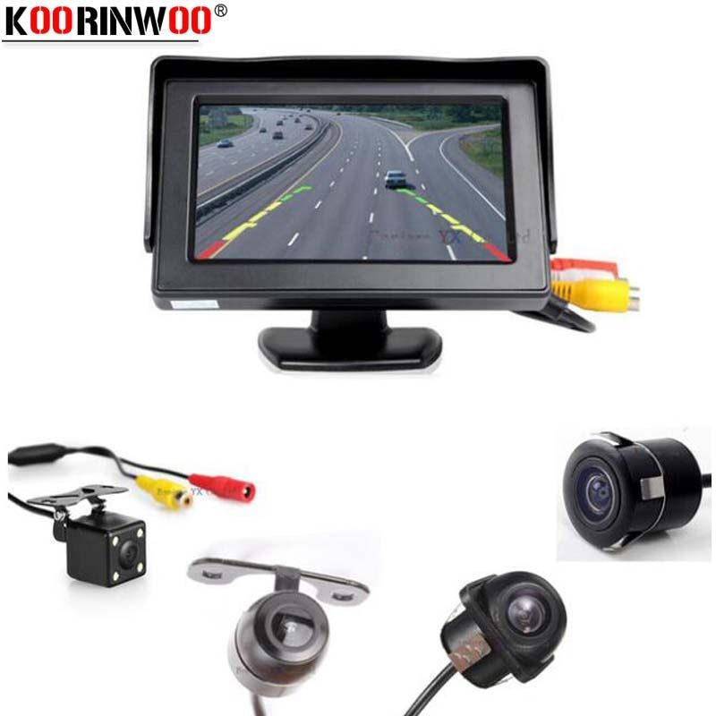 Koorinwoo Vehicle Hight Resolution Car TFT LCD  Parking Monitor 800*480 night vision IP68  Auto rearview camera parking Assist