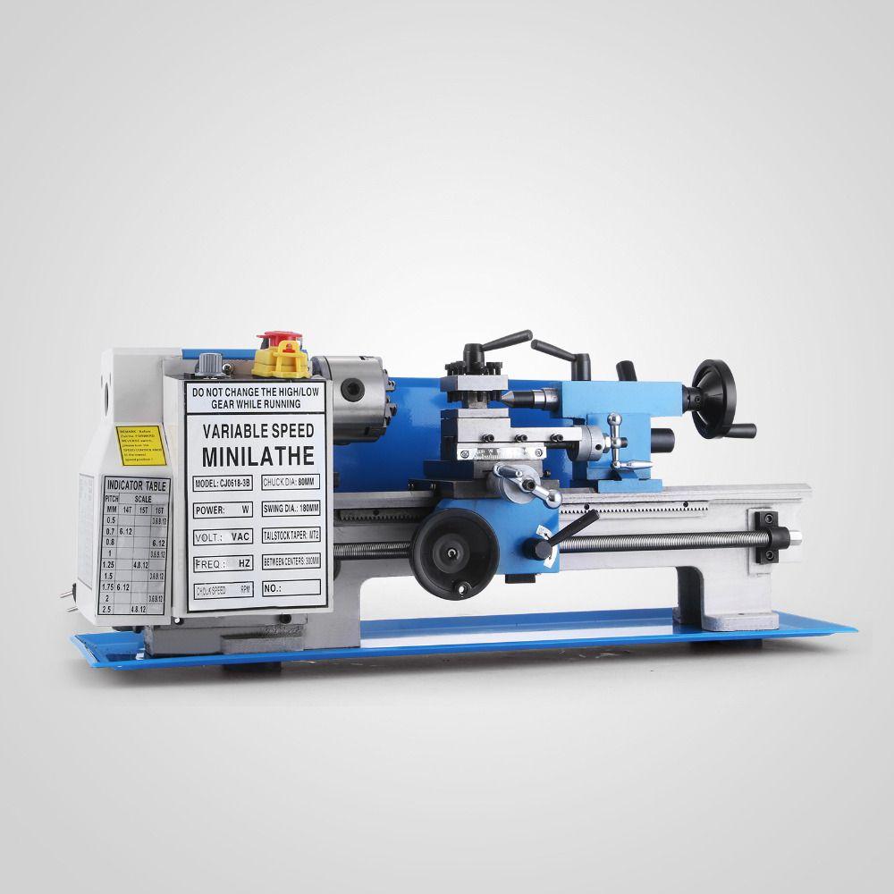 7 x 12 inch 550W Mini Precision Metal Lathe 2500RPM Variable Speed Mini Lathe 3/4HP