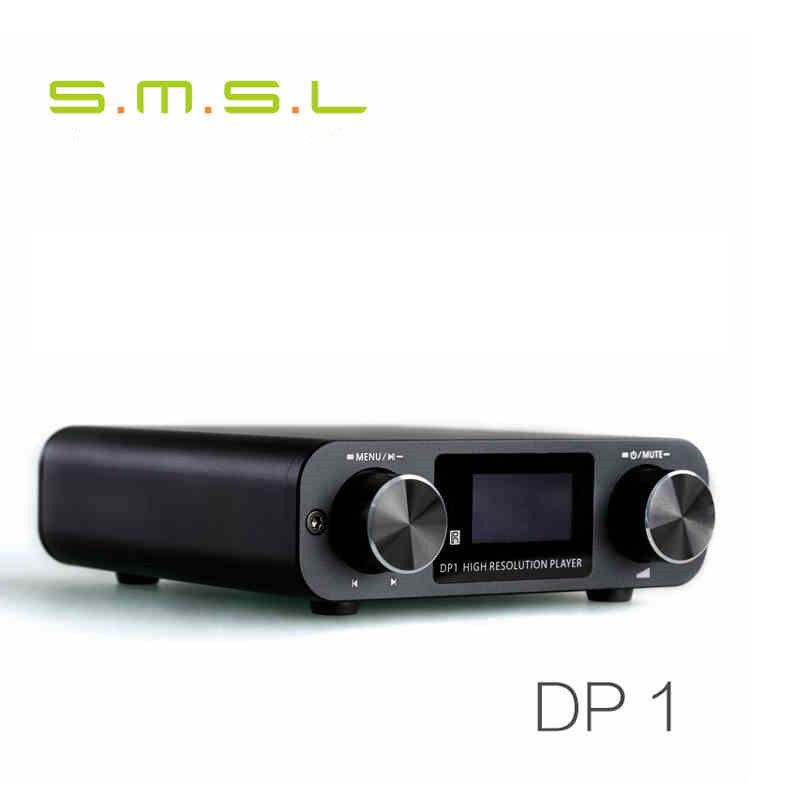 SMSL DP1 HIFI Lossless Player AK4452 Audio Digital Turntable DAC Decoding Support SD Card/Optical/USB Input