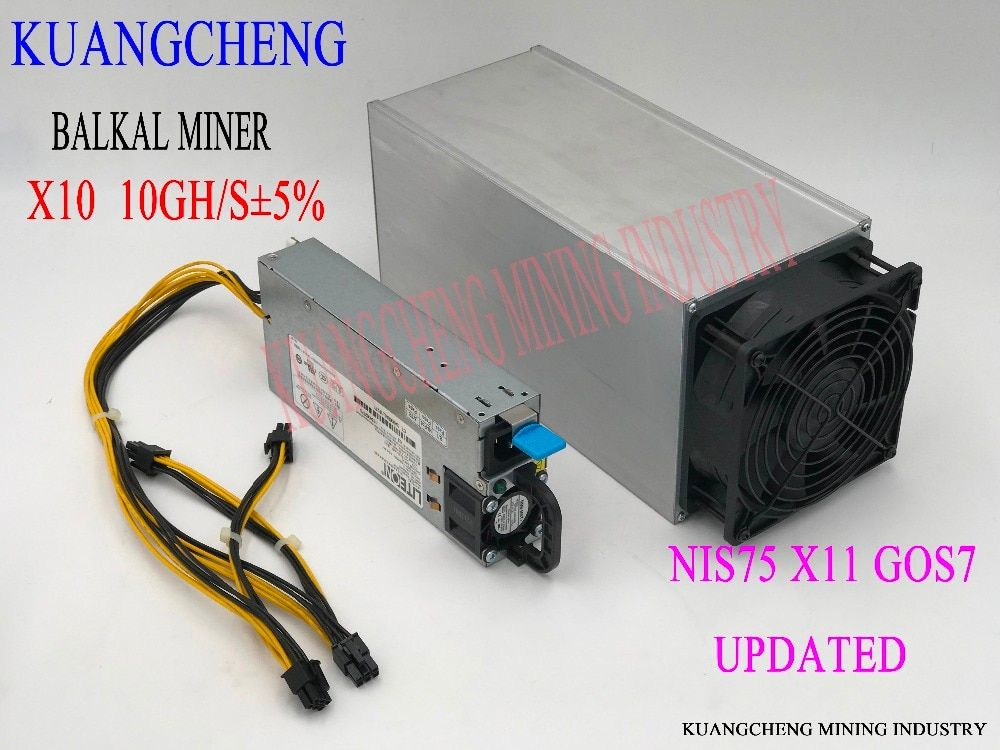 Fast delivery BAIKAL Giant  X10 Miner 10GH/S ASIC support  X11 / Quark / Qubit/Myriad-Groestl/Skein/Nist5/Skein/X11Gost With PSU